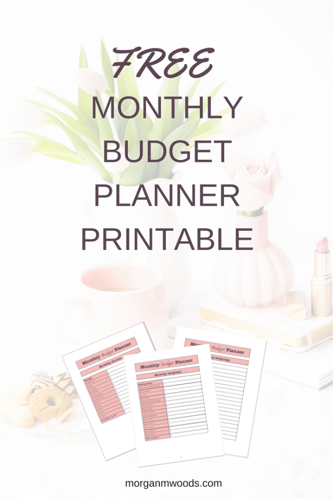 Free Monthly Budget Planner Printable