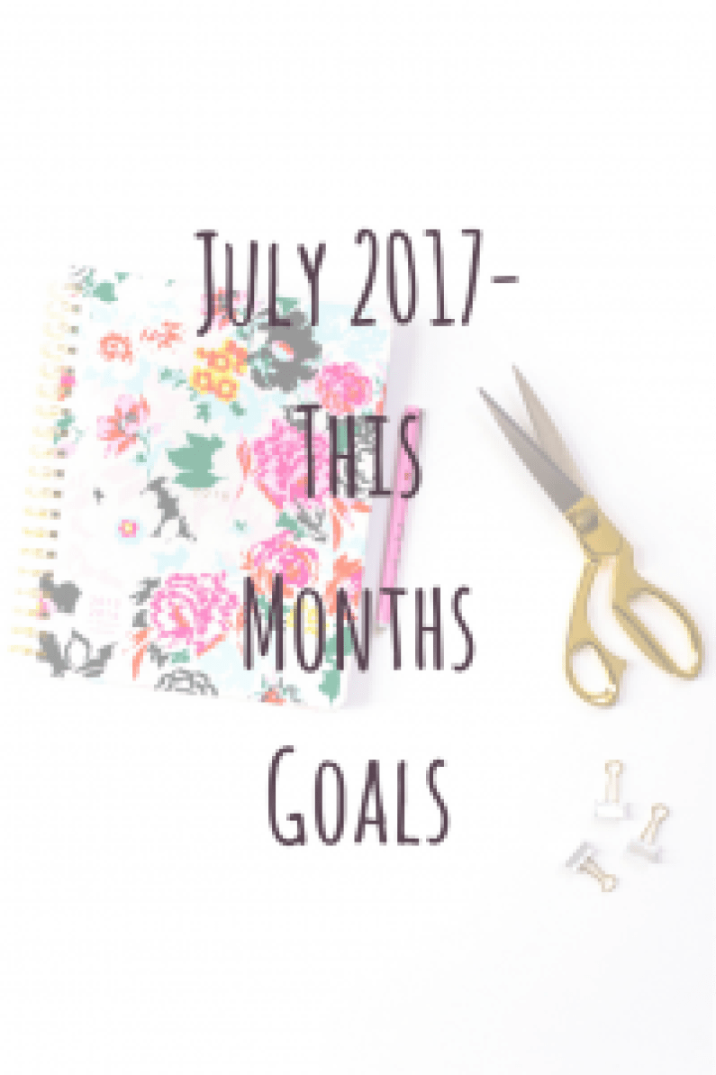Julys 2017 - This months goals