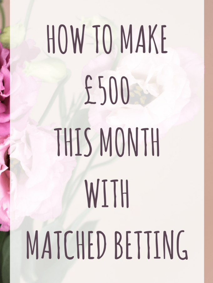 As quite a few of my readers know I love matched betting and it really helped us to pay off our debts last year. It's still my favourite way to make extra risk free and tax free cash each month.