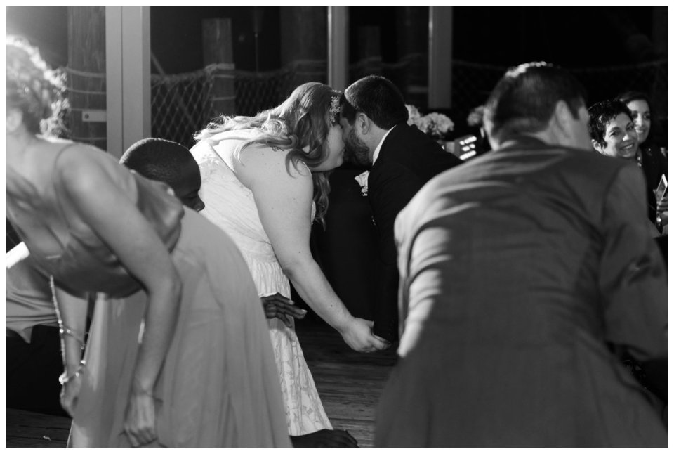 party dancing at palm beach zoo wedding reception