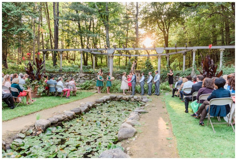 codman estate wedding garden wedding ceremony