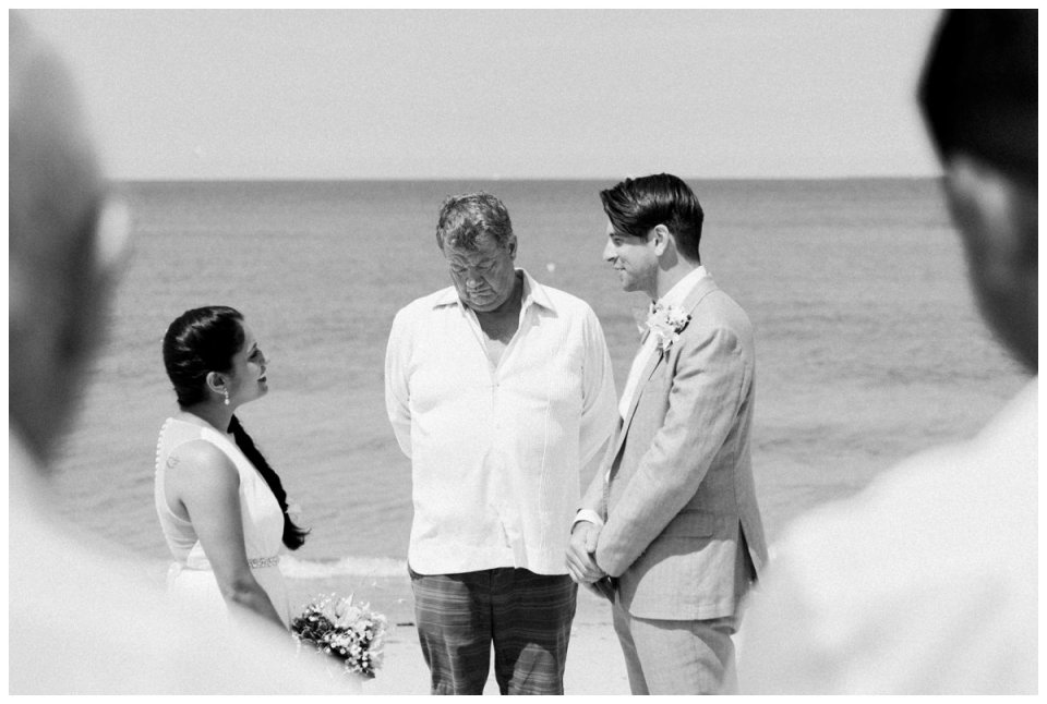 intimate falmouth beach wedding ceremony