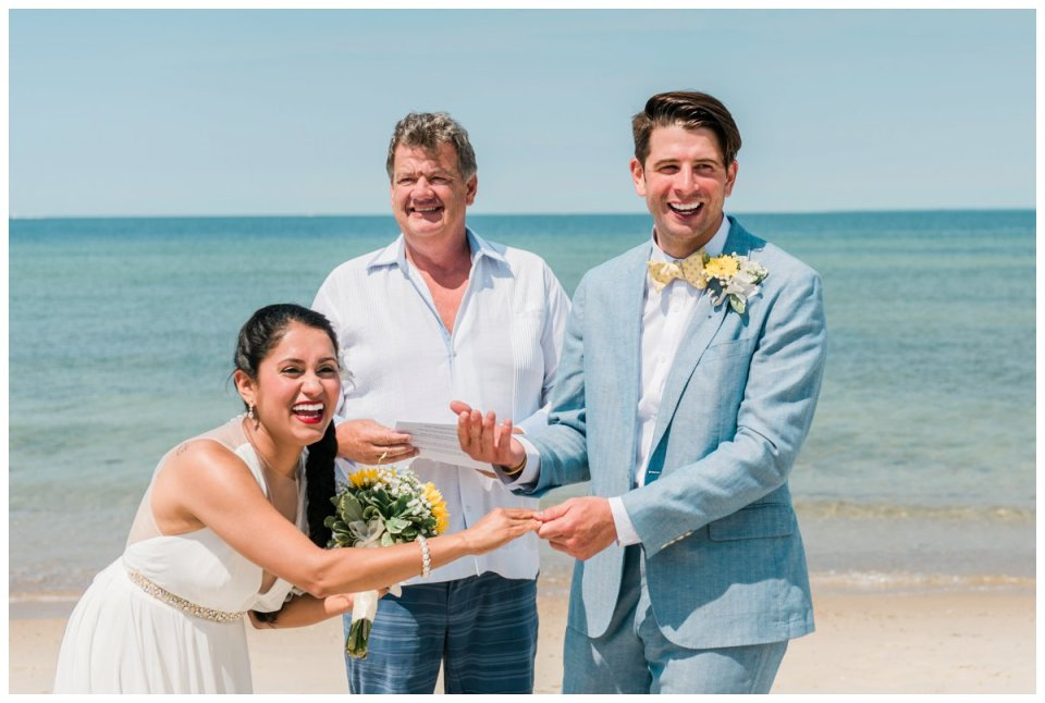intimate falmouth beach wedding elopement