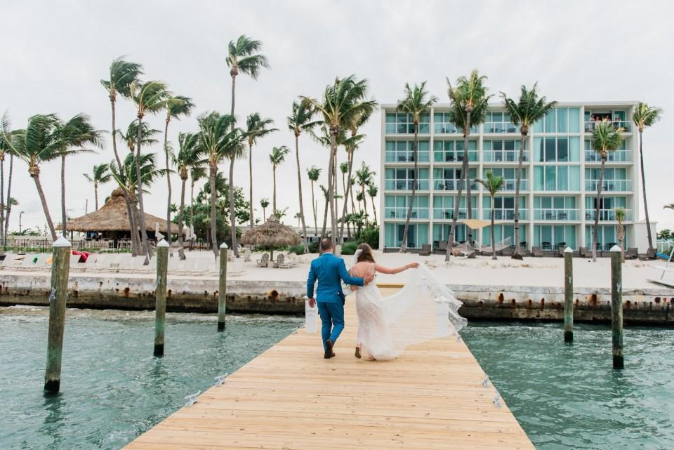 Islamorada destination wedding first look at amara cay