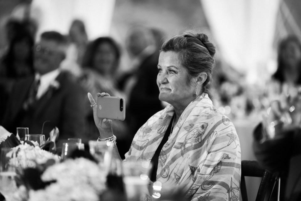 Tented wedding reception in duxbury massachusetts