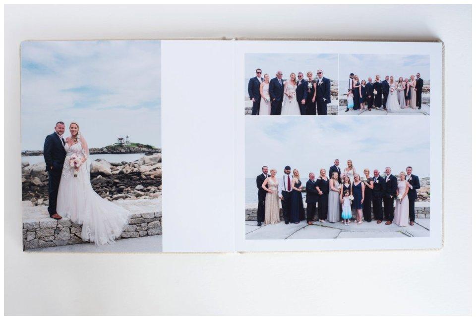 leather wedding album by boston wedding photographer