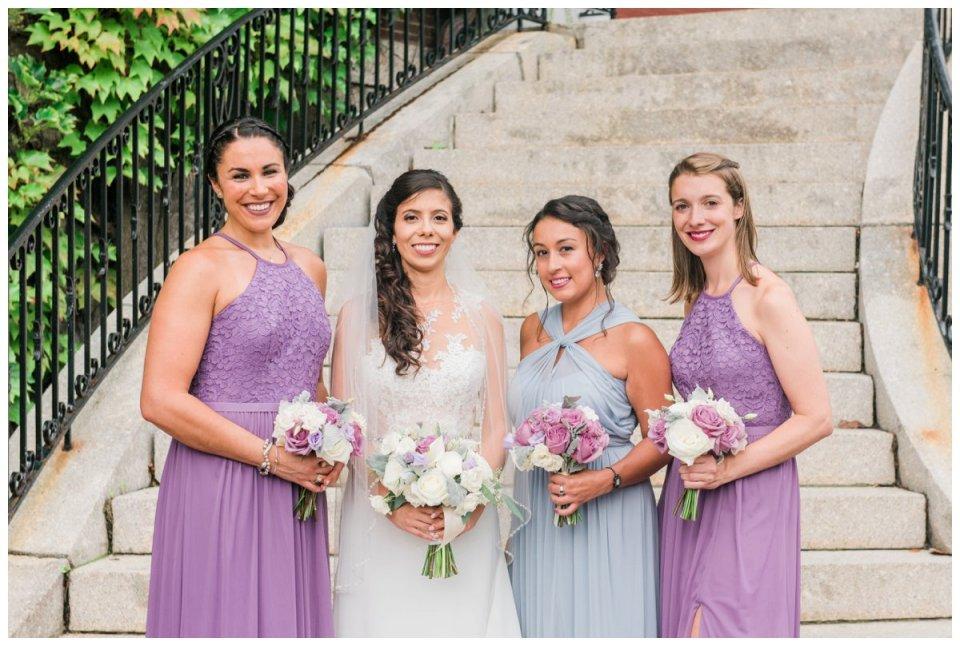bridal party photos at holy cross