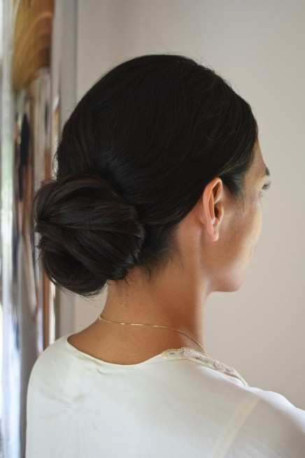 Ithaca Wedding Hair Salon, Ithaca New York Wedding Hair simple elegant updo low bun updo Fingerlakes wedding