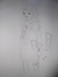 This awesome group called Cosplay Armory, drew me in my Mai outfit. I WISH I looked as good as her!