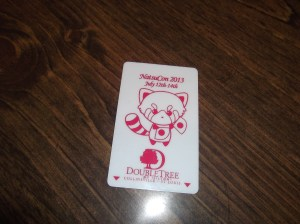 Our adorable key card for the con.