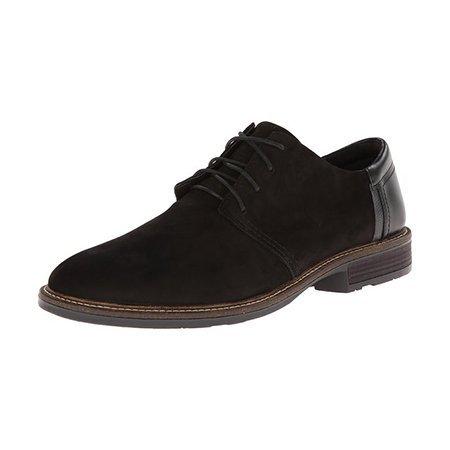 Naot Chief Black Velvet Leather
