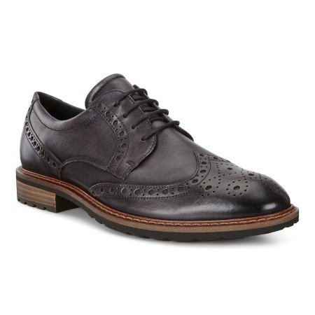 Vitrus I Wing Tip Tie Moonless