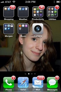 Morgans face on my cell