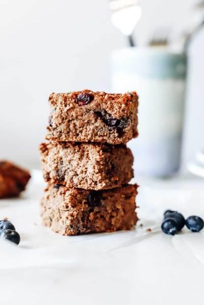 Grain-Free Chocolate Blueberry Breakfast Bars