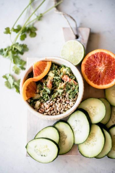 Blood Orange Kale Guac