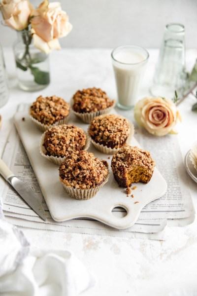 Paleo Pumpkin Streusel Muffins (Grain Free)