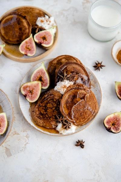 Grain Free Gingerbread Pancakes (Gluten Free, Dairy Free)