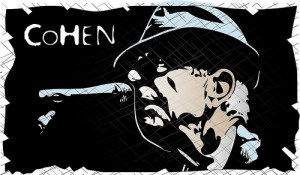 Leonard Cohen Vector Tribute by Vectorportal