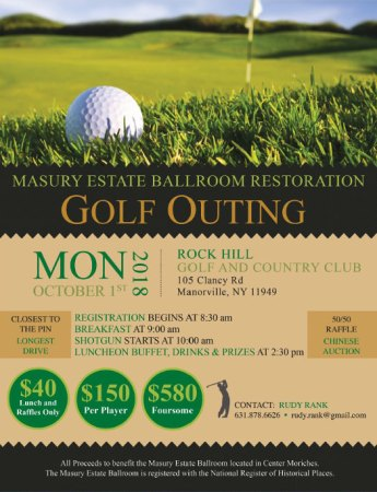 Masury Estate Ballroom Restoration Golf Outing @ Rock Hill Golf & Country Club | Manorville | New York | United States