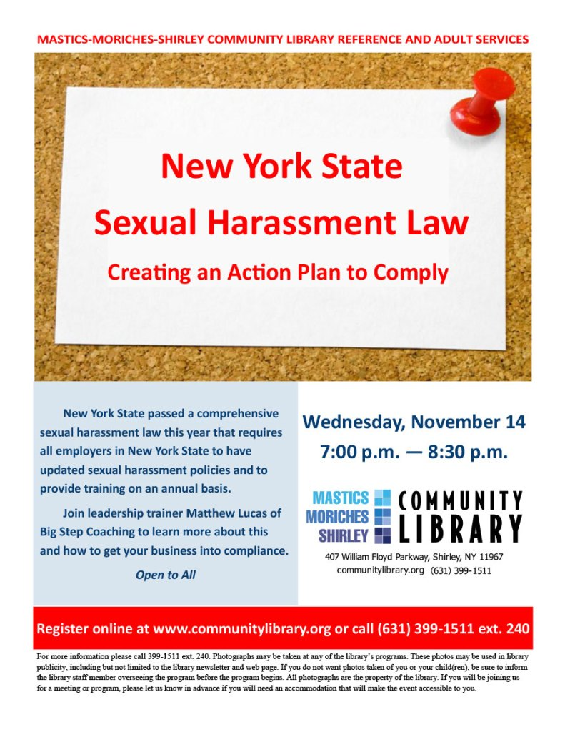 New York State Sexual Harassment Law: Creating an Action Plan that Works