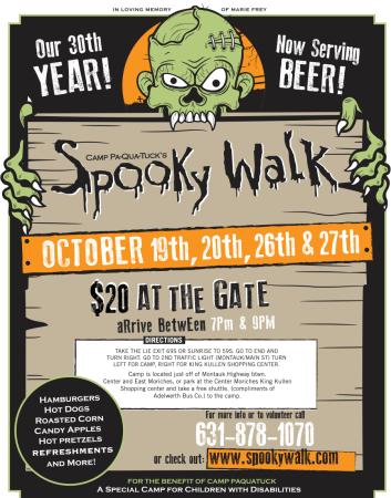 30th Annual Camp Pa-Qua-Tuck Spooky Walk @ Camp Pa-Qua-Tuck | Center Moriches | New York | United States