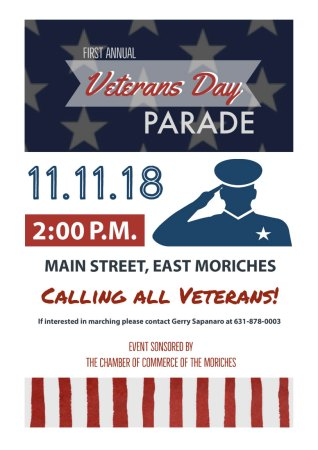 First Annual Veterans Day Parade in East Moriches