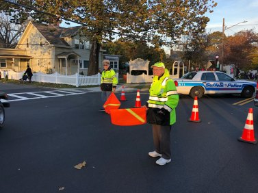March of the Goblins, Halloween, Center Moriches: traffic control