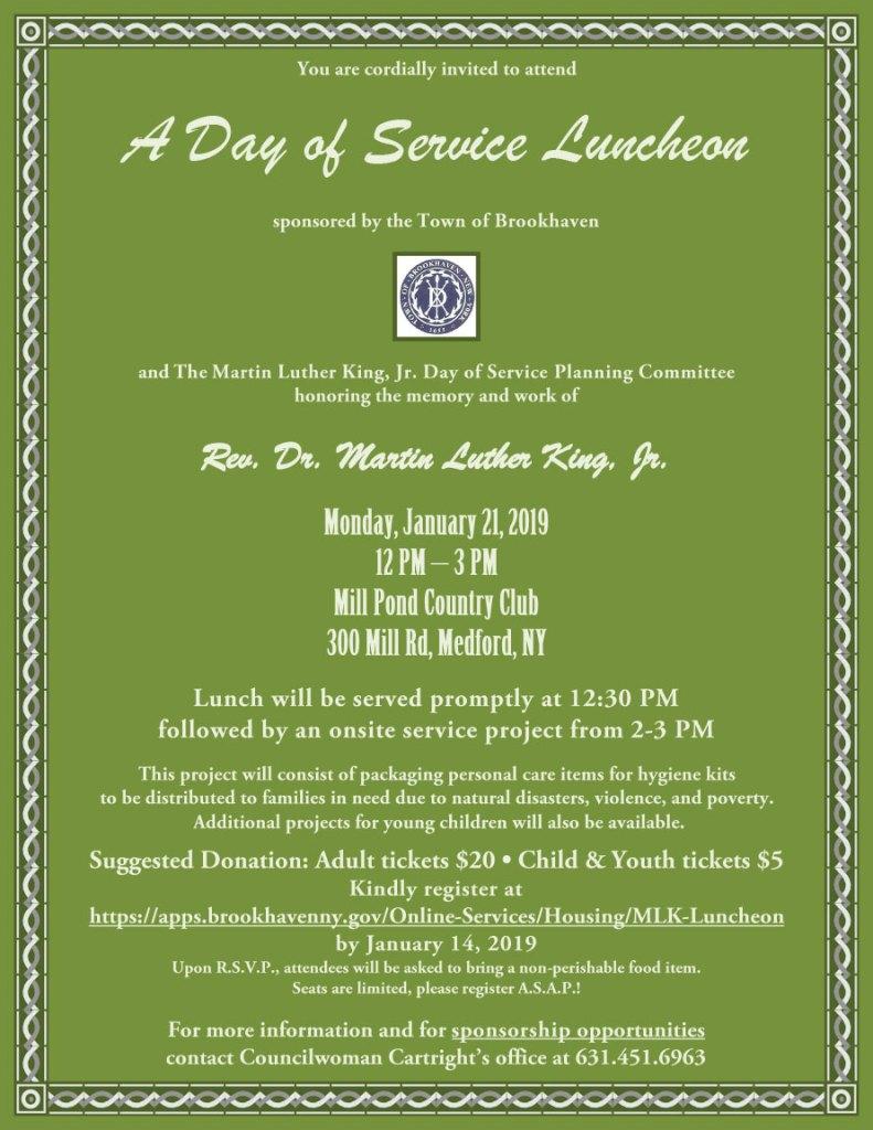 MLK Day of Service Invitation