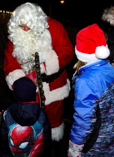 Santa gives gifts at 2018 Moriches Chamber tree lighting