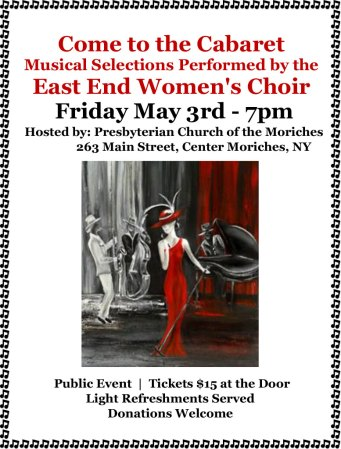 Cabaret @ The Presbyterian Church of the Moriches | Center Moriches | New York | United States