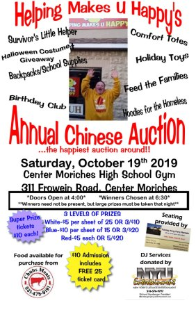 Helping Makes U Happy Annual Chinese Auction @ Center Moriches High School Gym | Center Moriches | New York | United States