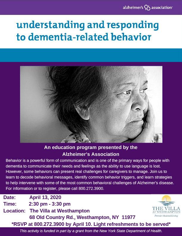 Understanding and Responding to Dementia