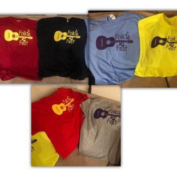 Folkie Fest t-shirts