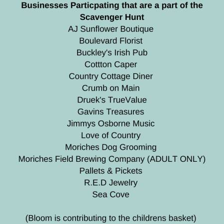list of businesses particpating in Earth Day Event