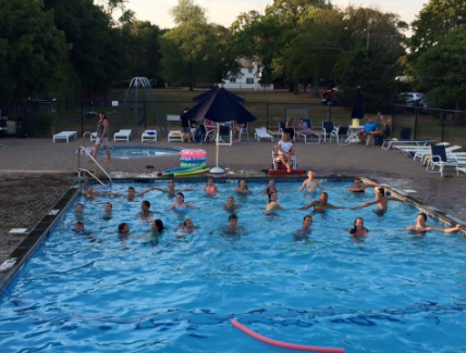 Yacht club swimming pool