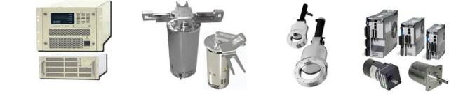 真空搬送ロボット、RF電源、真空バブル、サブモーターと駆動、計測器