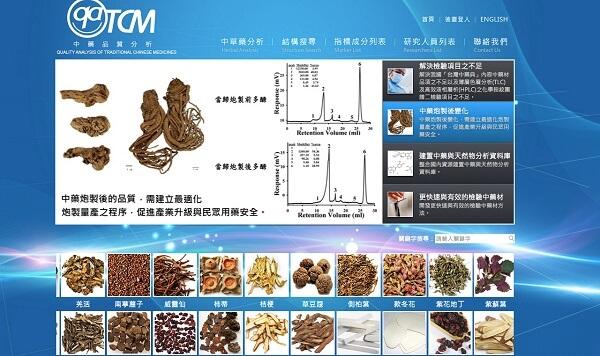 中藥品質分析網站