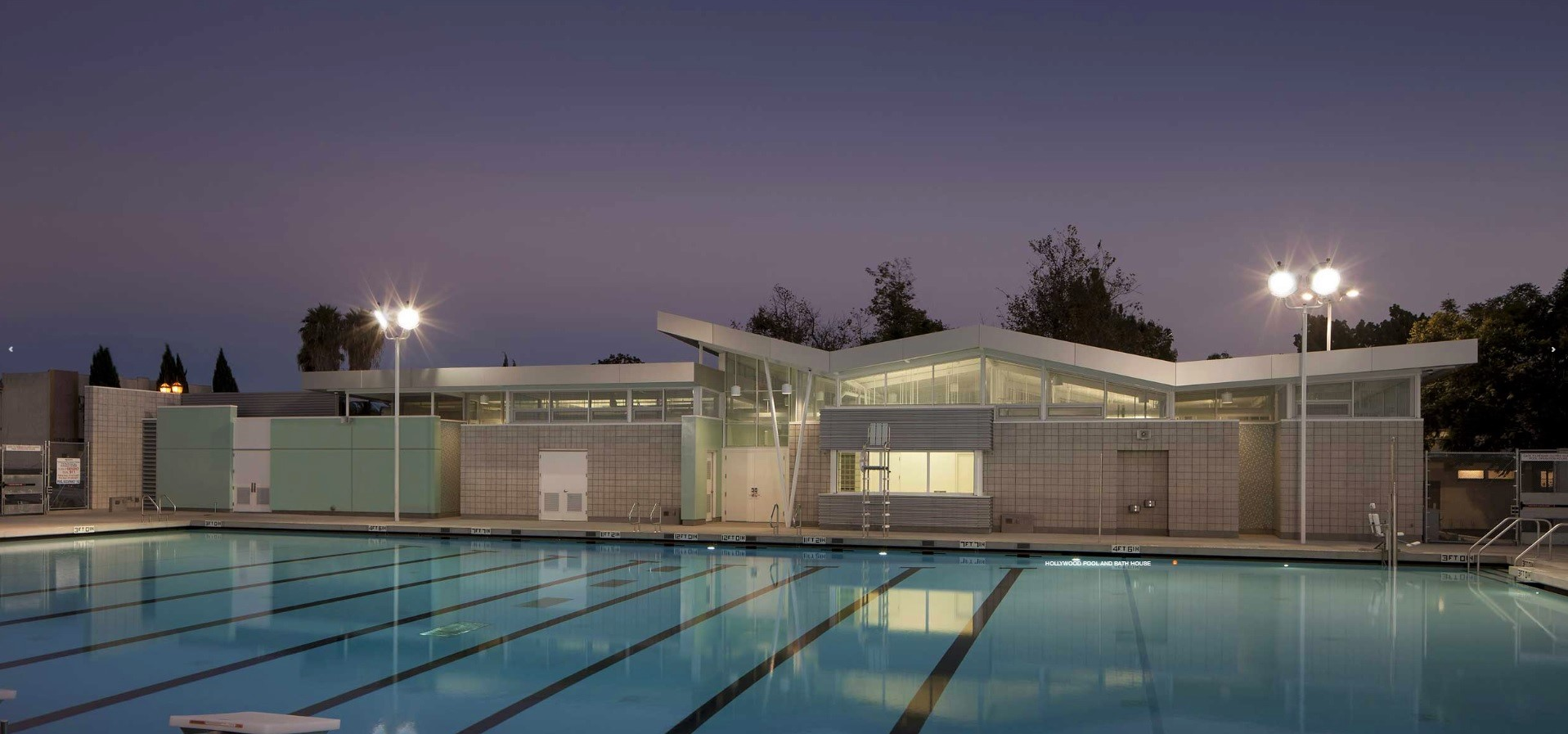 Hollywood Rec Ctr: Pool and Pool Building