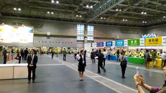 大阪マラソン 受付 入口