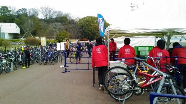 2017 サイクルモードライド大阪 特設駐輪場