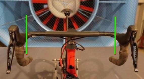 空力学的に考えて、エアロハンドルにどこまでバーテープを巻くべきか?