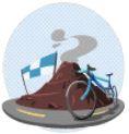 ZWIFT(ズイフト)】全アチーブメント・バッジ獲得方法一覧 ウォームアップ完了