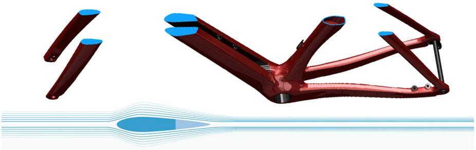 ダウンチューブへの「Twin Vane Evo」の導入 ファクター『ONE』が2018年進化。高次元化されたエアロと動的性能。