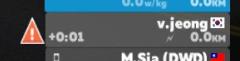 ライド画面の詳細説明 ZWIFT ズイフト スピード以上警告マーク