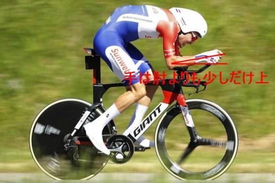エアロ的に最速な手と肘の位置とは? トム・ドゥムラン