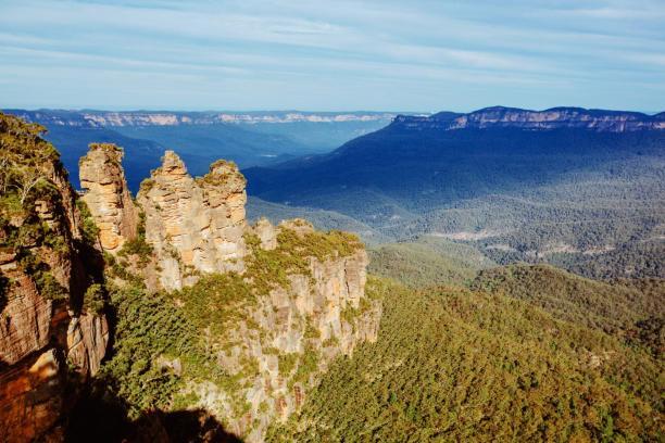 オーストラリアのブルーマウンテンにある、3つ並んだ奇岩 ZWIFT(ズイフト) Watopia開発秘話 コース 三連山「Three Sisters」の秘話@Three Sisters