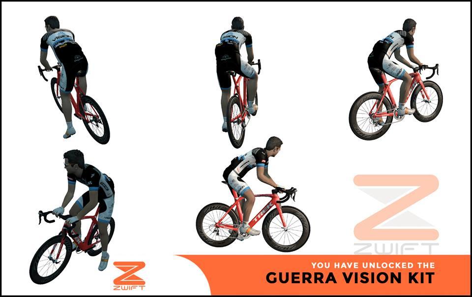 Guerra Vision ZWIFT(ズイフト) 全ジャージ入手方法、プロモコード一覧