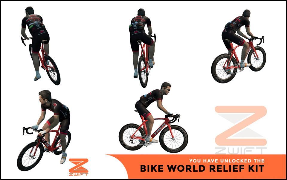 World Bike Relief 2015 ZWIFT(ズイフト) 全ジャージ入手方法、プロモコード一覧