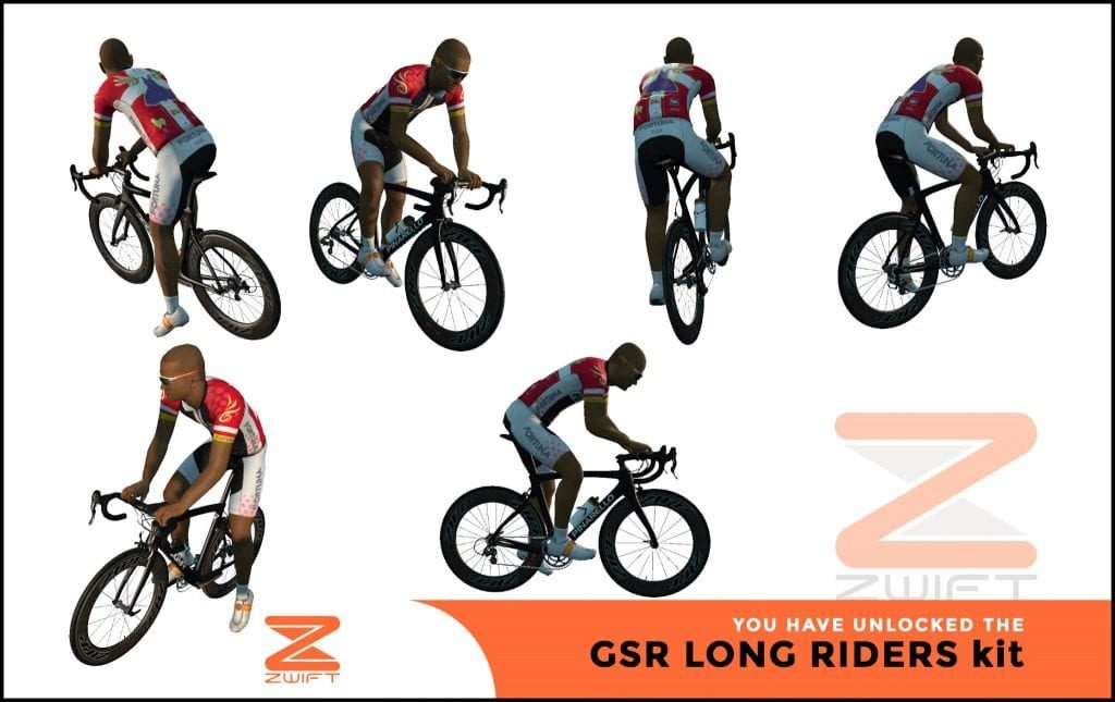 GSR Long Riders ZWIFT(ズイフト) 全ジャージ入手方法、プロモコード一覧