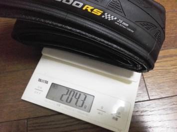 実測重量測定、『4000S Ⅱ』との外観の違い コンチネンタル GP4000 RS タイヤ インプレッション continental 重量 レビュー 使用感